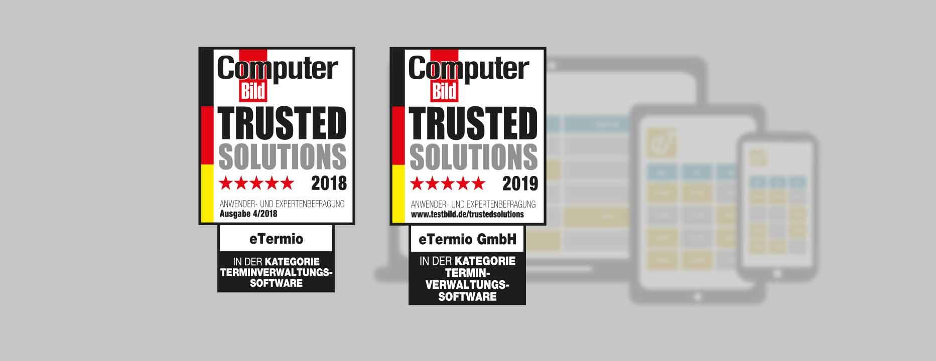 eTermio Trusted Solutions Auszeichnung (Bild: eTermio / Computer Bild)