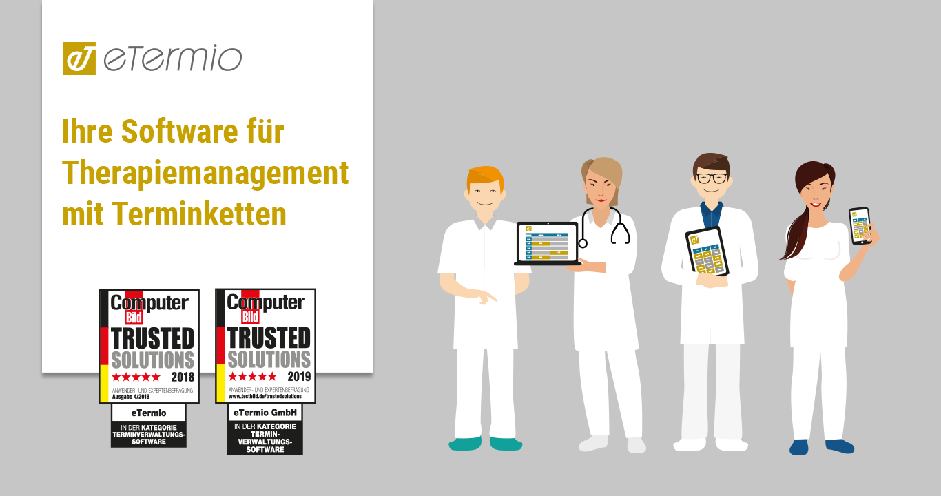 eTermio Therapiemanagement Software mit Terminketten